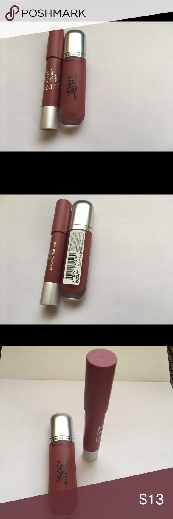 Revlon matte lipcolor and colorburst matte balm Lipcolor never used but I used mattebalm once time Revlon Makeup Lipstick