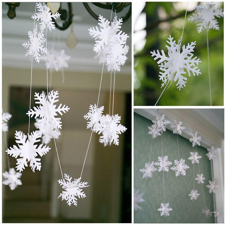 Navidad 3ra decoración de la fiesta de bodas de la Navidad de la bandera del copo de nieve de ejecución en la horca