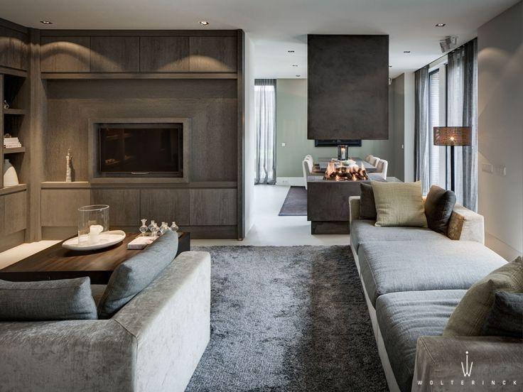 soft earth tone neutrals | open plan living dining || Wolterinck | Project | Wolterinck Laren