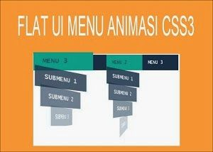 Flat UI Menu Animasi Dropdown CSS3