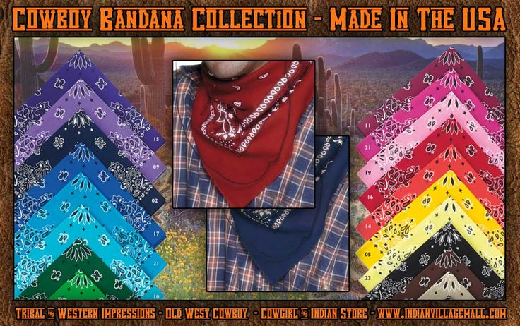 Cowboy Bandana Collection from Tribal And Western Impressions - Old West Cowboy, Cowgirl And Indian Clothing Store - www.indianvillagemall.com