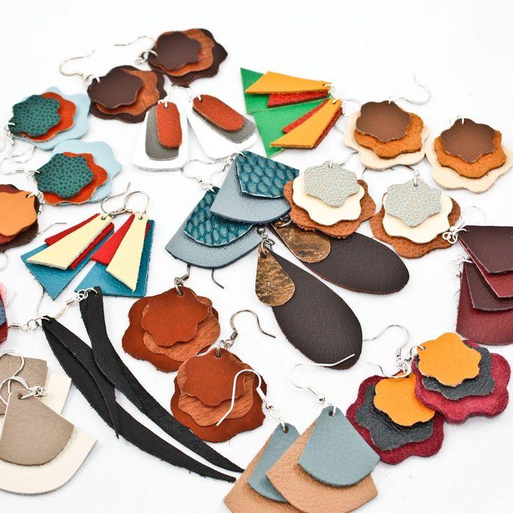 models arracades de cuir leather earings