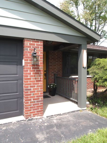 85 best images about red brick or render on pinterest - Best exterior paint for wood trim ...