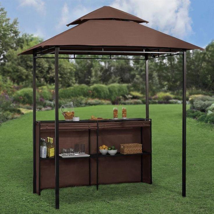 Garden Bar Ideas Uk: Outdoor Patio Bar Grill Gazebo Pool Deck BBQ Party Bistro