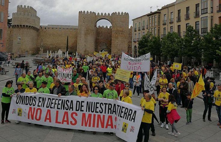 """Ávila despierta, la mina está a las puertas"", No a la mina en la Sierra de Ávila, No a la mina en la Sierra de Yemas, No a la mina en el Valle del Corneja"