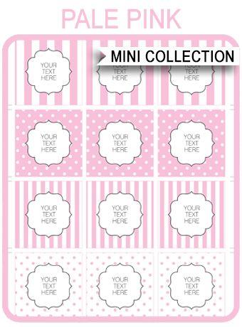 Free Baby Shower Printables – pink stripes and polkadots via SIMONEmadeit.com