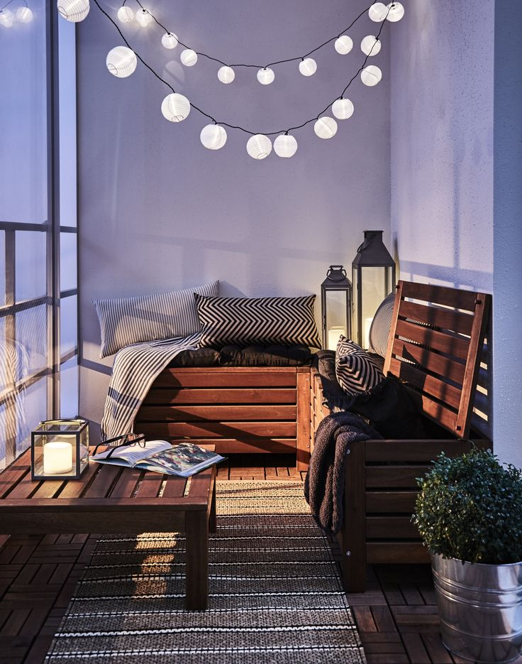 Die 25+ Besten Ideen Zu Ikea Balkon Auf Pinterest | Patio Kissen ... 30 Wundervolle Balkon Ideen Fur Einrichtung