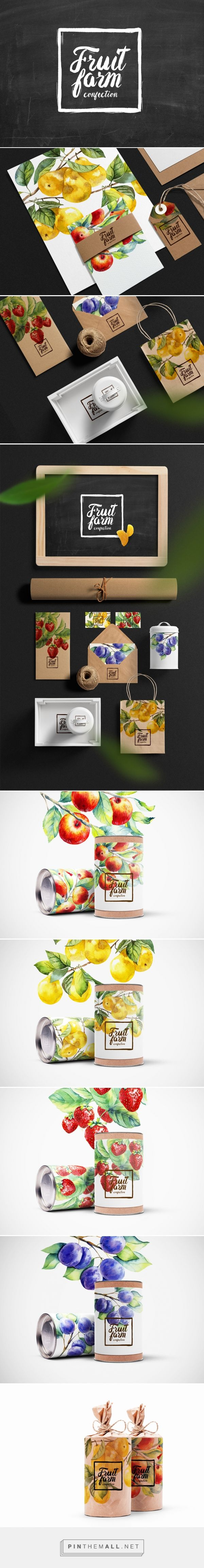упаковка фруктовых конфет on Behance via Rina Rusyaeva, Krasnodar, Russian Federation curated by Packaging Diva PD  Wow are these fruit packaging illustrations pretty.