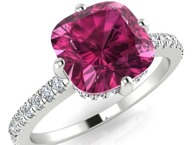 Engagement Ring, Wedding Rings, Proposal Rings, Solitaire Ring With Natural Pink Tourmaline And Genuine Diamonds, The Perfect Ring by BridalRings on Etsy https://www.etsy.com/listing/242684034/engagement-ring-wedding-rings-proposal