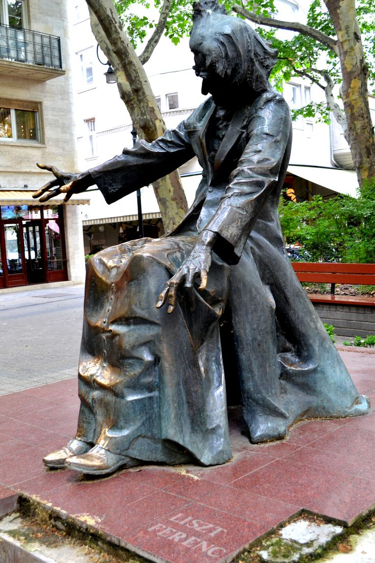 Statue of Franz (Ferenc) Liszt outside the music conservatory in Budapest, Hungary.