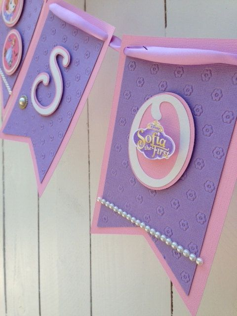 Sofia The First Banner by LovelyPaperCreationz on Etsy, $40.00 cute but too expensive