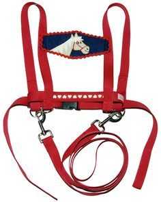 """Mit diesem tollen #Pferdegeschirr kommt bei kleinen Mädchen und Buben echtes Pferde-Feeling auf!  Das Pferd kann – durch die D-Ringe vorne und hinten – damit """"geritten"""", """"geführt"""" oder """"longiert"""" werden. Aufgrund der Schultergurte folgt es den Sicherheitsanforderungen von #Kindergarten und #Schule."""