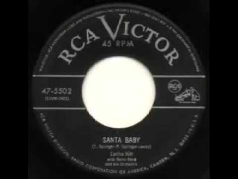 My favorite Christmas song ever! Eartha Kitt ~ Santa Baby