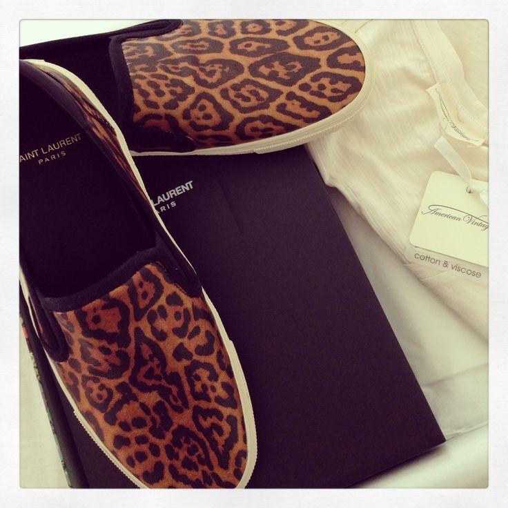 Saint Laurent Sneakers, American Vintage long sleeve tee, Animal Print sneakers, matchesfashion