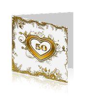 gouden bruiloft 50 jaar getrouwd kaarten wit met goud