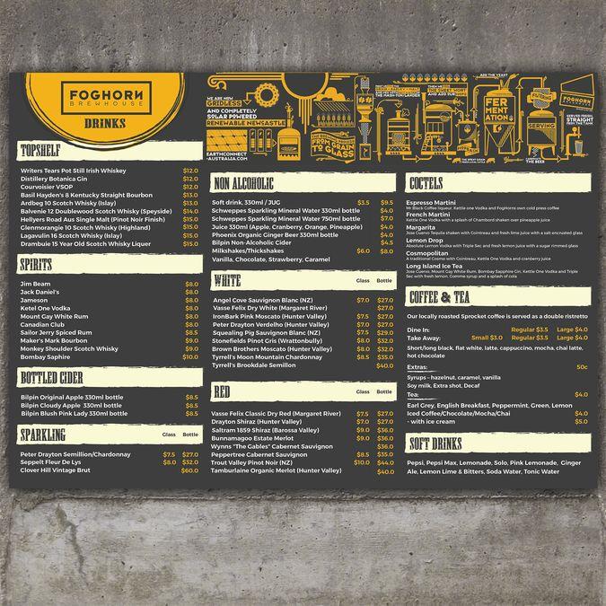 Brewery Restaurant Menu by LovILLU