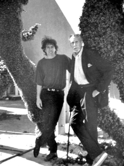 A very young Tim Burton with Vincent Price