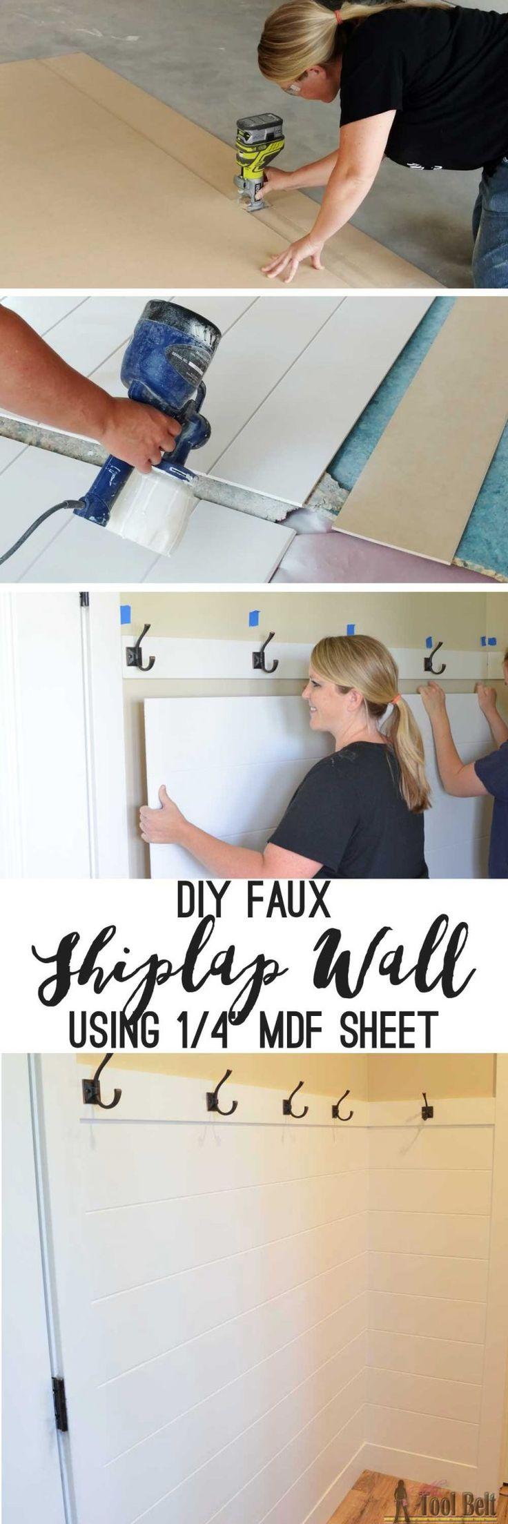 DIY Shiplap Wall Panel