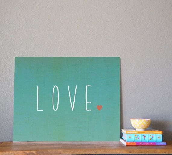 LOVE 14x11 Wall Art Print