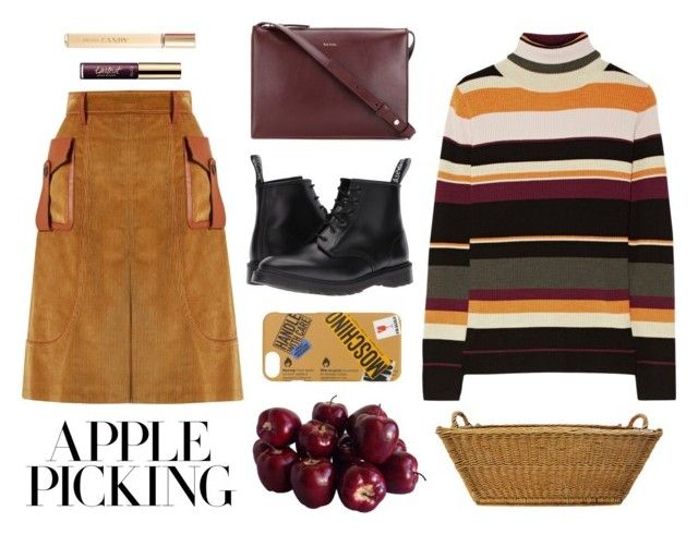 """Plums for Apples"" by angeli-cn ❤ liked on Polyvore featuring Prada, Paul & Joe, Paul Smith, Dr. Martens, Moschino and tarte"
