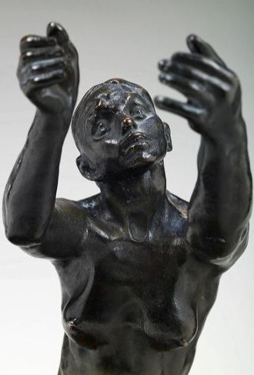 "black - figurative sculpture - Camille Claudel   ""L'Implorante"""