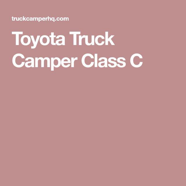 Toyota Truck Camper Class C