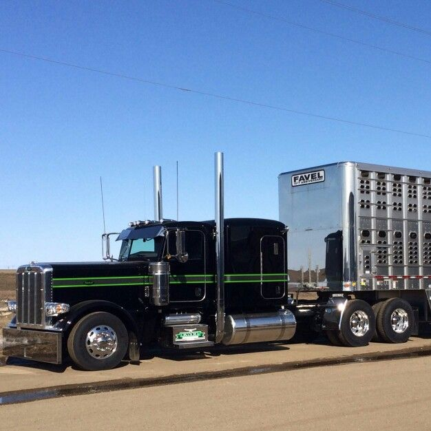 Picture Of Big Rig Headlights : Pin by chuck e on wilson livestock trailers pinterest