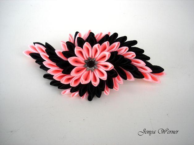 Haarspangen - Haarspange Kanzashi - ein Designerstück von Broot bei DaWanda