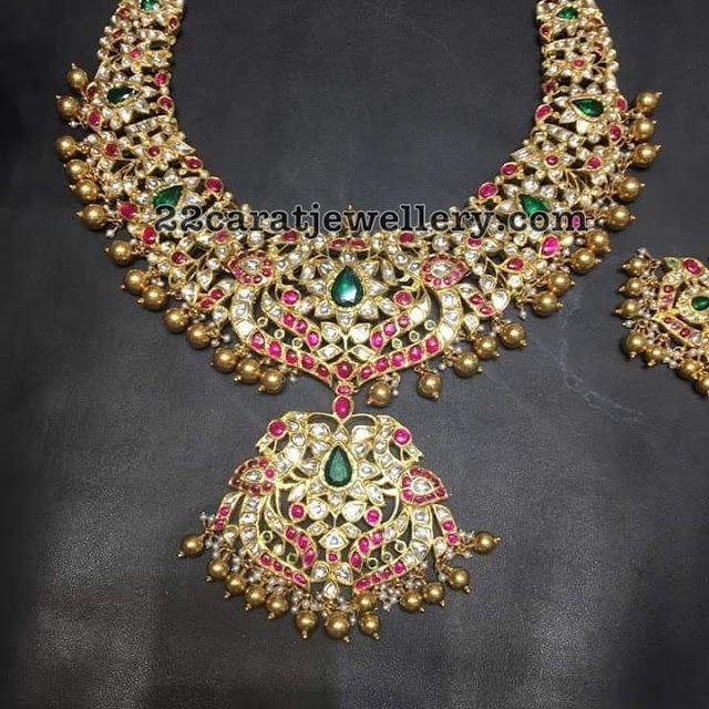 Kundan Pachi Necklace 200 Grams