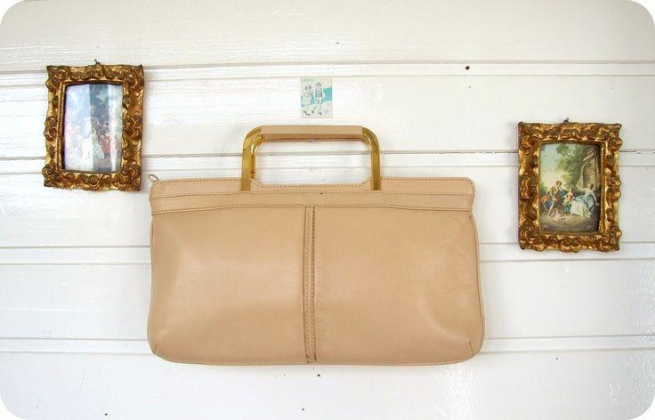 Vintage Leder Tasche Bag Handtasche Clutch 50er 60er Mad Men Leather Purse  in Kleidung & Accessoires, Damentaschen | eBay!