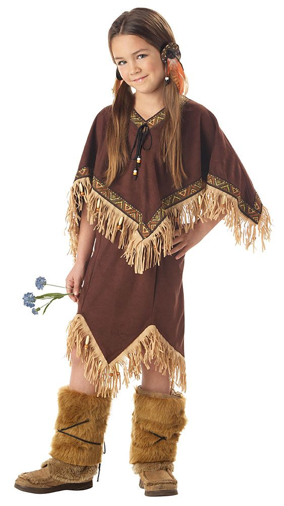 Sacajawea Costume Kids - Thanksgiving Indian Costumes - Thanksgiving Costume for Kids