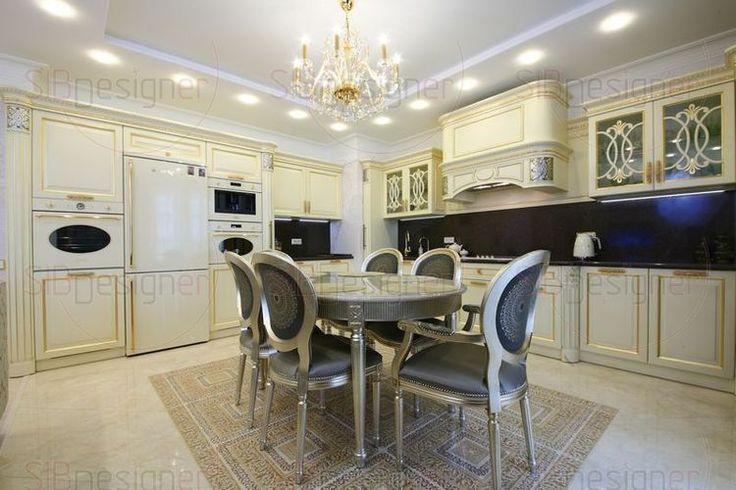 Фото интерьера столовой комнаты, дизайн интерьера столовой - СибДизайнер.ru