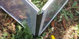 All profiles of our Slide and Grow Greenhouse are made by tough, high resistance plastic. All profiles are made from recycled plastic that finds a new life in your greenhouse.  No sharp metal edges nor flimsy aluminum profiles.  All connections between profiles are made with soft rubber (Epdm) ribbons. They slide into place and assure an easy and quick installation/dismantling operation.  For additional info please contact: info@digiplastics.co.uk