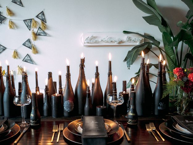 Black magic (aka candles). | 13 Things Needed To Keep Your Halloween Party Classy AF