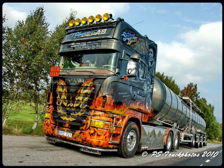 Scania R620 V8 Topline tanker – TDL-Entreprenad – Smokey and the bandit – Sweden – https://flic ...