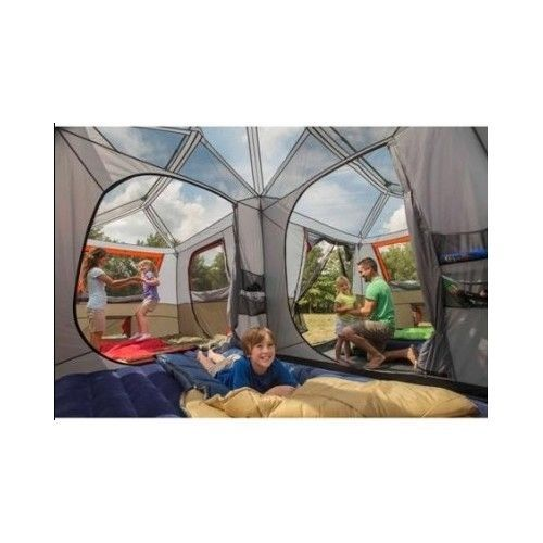 Large Family Tent 12 Person 3 Room Instant Cabin Easy Set