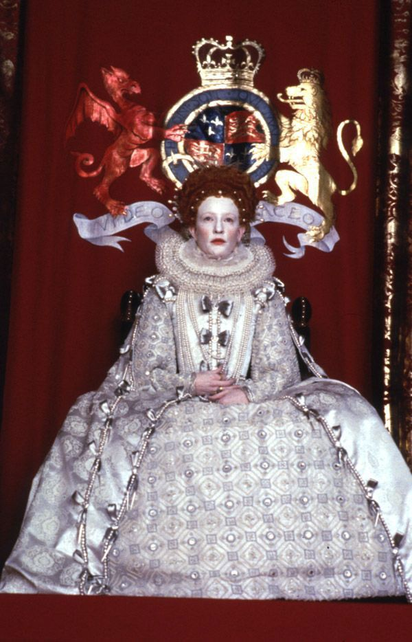 """Elizabeth's """"Virgin Queen"""" Costume (Elizabeth, 1998)."""