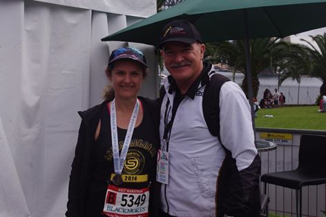 I was very fortunate to win a competition with Skins which included running gear and entry into todays Blackmores half marathon. It also included access to the VIP tent where Mark & I got to meet and have a chat with Rob De Castella!