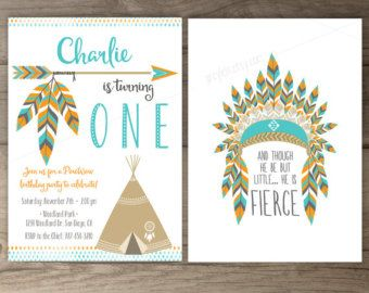 Wild & Three Birthday Party Invitations invites por greylein