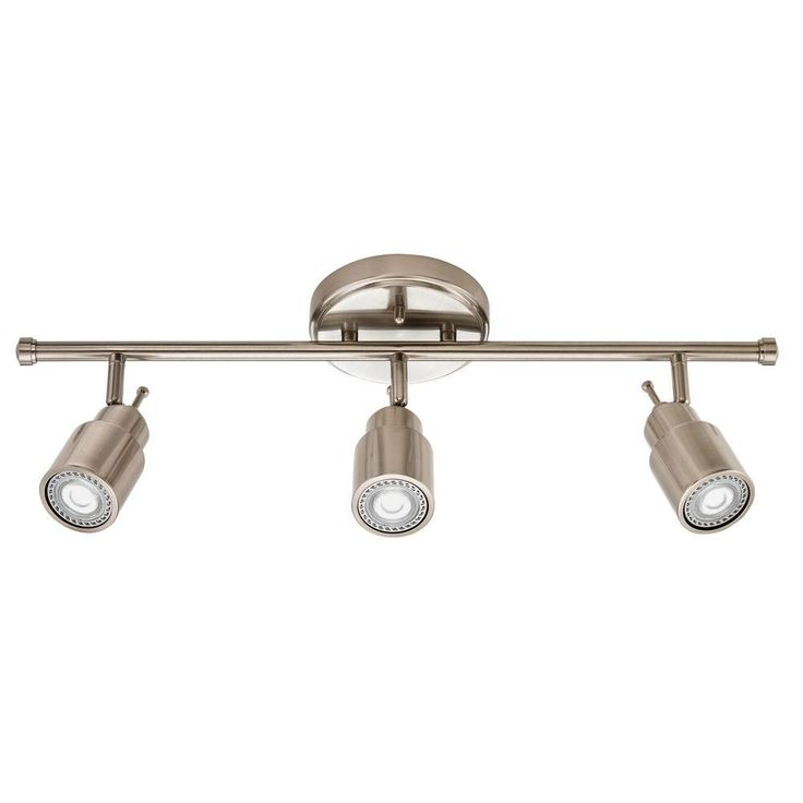 Lithonia lighting 2 ft 3 light brushed nickel led track lighting fixed kit