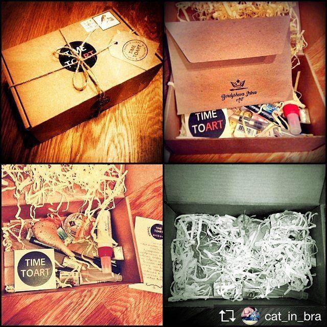 Repost from @cat_in_bra А вот и моя прекрасная коробочка от @timetoart.ru и @berdyshevaart. Ребята огромное спасибо содержимое оказалось круче чем я думала. Осталось дождаться когда коробка приедет из Москвы ко мне в Любляну и приступить к работе. ... Наша коробочка нашла своего художника ... #акварель #винтаж #timetoart #винтаж #artbox_challenge