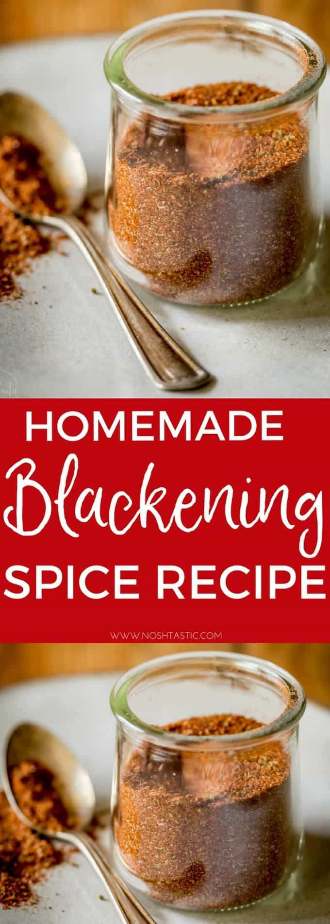 The BEST Homemade Blackened Seasoning recipe with easy tips for cooking with it! It's naturally gluten free, paleo, Whole30, Low Carb and Keto compliant, there is no sugar added. This is a variation of Paul Prudhomme's Blackened Seasoning Blend, a really