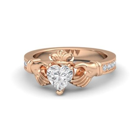 rose gold claddagh rings - Google Search