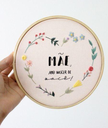 Bordado Arte | Bordados a mão livre, Presentes bordados, Bordados a mão