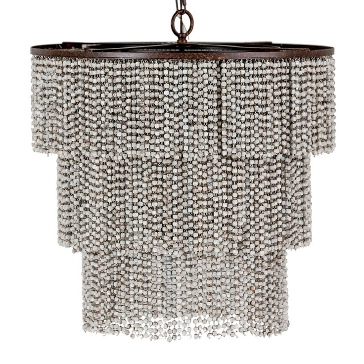 Sophisticated Elegance With A Hint Of Coastal Beach Style Inspired Our Etienne 3 Tiered Fringe Chandelier