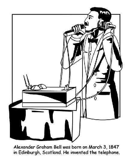 Alexander Graham Bell coloring page