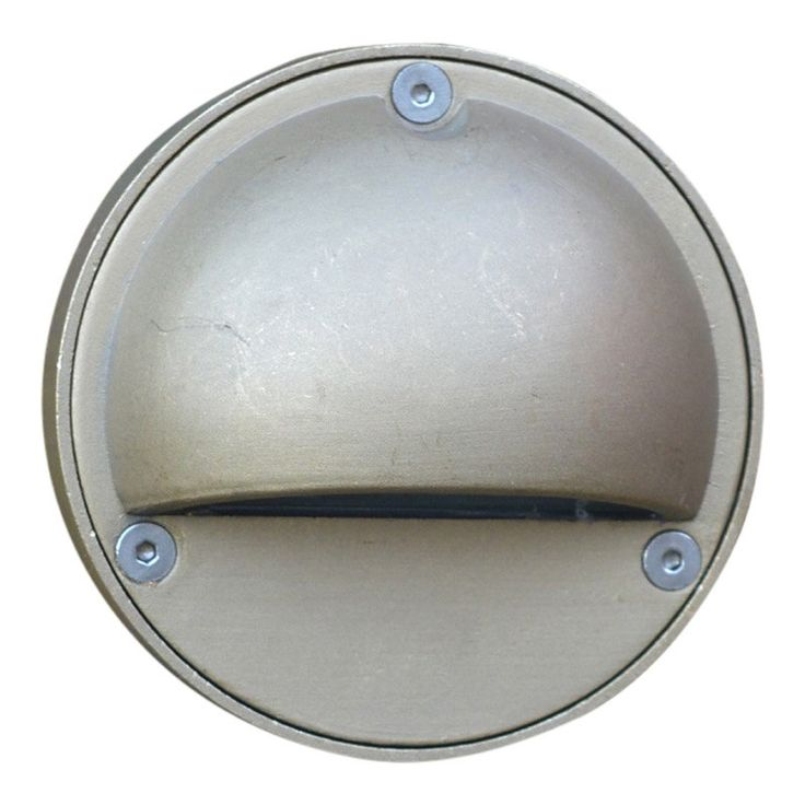 Pilot Steplight with Eyelid -Sandblasted Brass - 12v