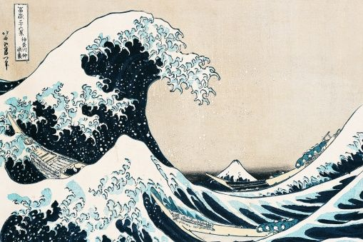 Hokusai, Katsushika - Great Wave - photo-wallpaper