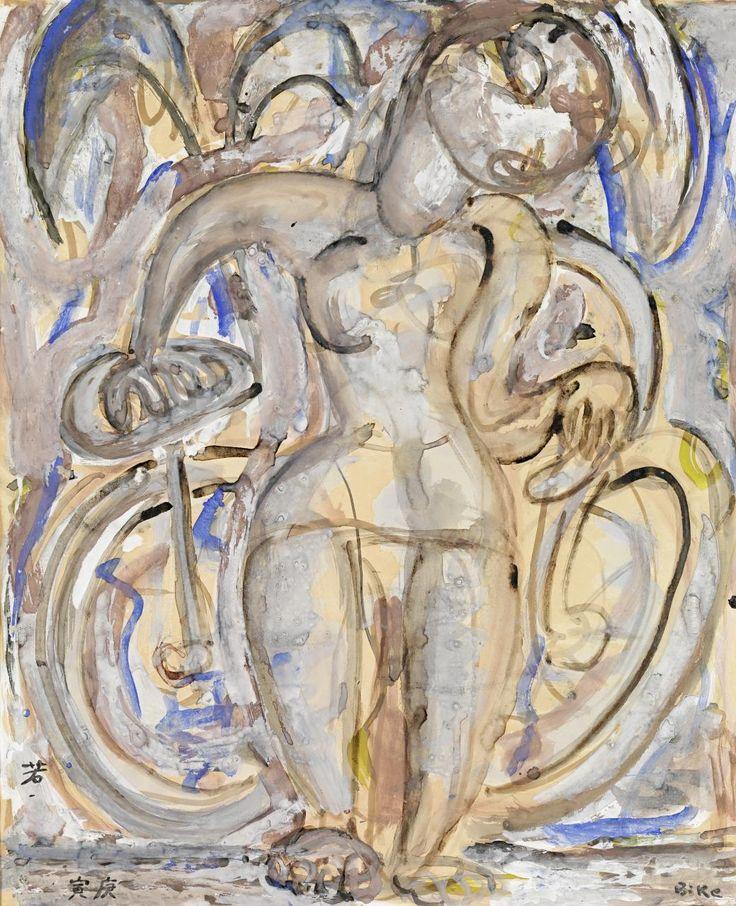 Ian Fairweather - Bike (gouache and ink)