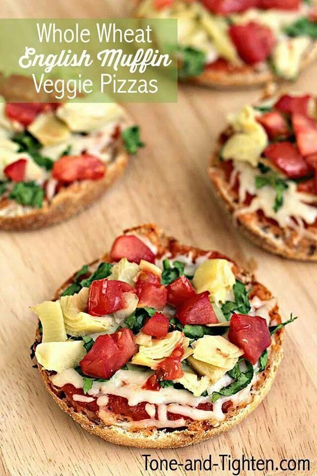 Muffin,vegie,pizza